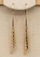 "18K Gold Filled - 2.2"" Trumpet Dot Circle Hollow Pageant Women Dangle Earrings"