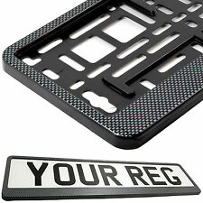 CARBON APPEARANCE Number Plate Surround Holder FOR CAR TRUCK VAN TRAILER CAMPER