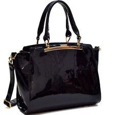 New Dasein Women Leather Satchel Handbag Purse Briefcase Tote Bag Shoulder Bag