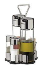 Tescoma Öl-Essig-Salz-Pfeffer-Zahnstocher Menage Set Essig Ölspender Gastro Set
