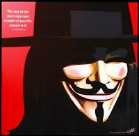 V for Vendetta canvas quotes wall decals photo painting framed pop art poster