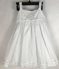 Royal Kidz Girls Dress Size 18M White Lined Monogrammed L J K