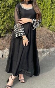 Eid black trouser dress large size
