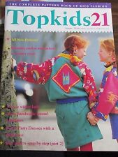TOP KIDS TOP KIDS SEWING  ISSUE 21 Autumn/ Winter 1992 PATTERNS FOR CHILDREN MAG