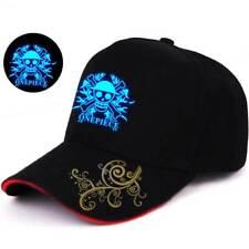 Glow In Dark One Piece Luffy Skull Baseball Cap Strapback Golf Hat Trucker Visor