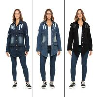 Women Long Denim Jacket Ladies Casual Jean Jacket Mid Long Jacket Outer Coats