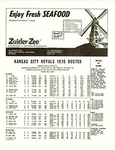 Kansas City Royals--1970 Scorecard vs Washington Senators