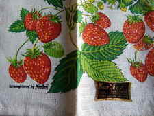 Vintage Kay Dee Strawberry Pure Linen Towel NEW w LABEL Marge French