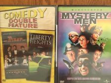 Diner & Liberty Heights (New, 2-Disc Set) & Mystery Men, 3 Comedy Dvd'S 2 Boxes