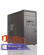 PC System Intel Core 2 2x 3.00GHz 8GB RAM 480GB SSD DVD-RW Win10Pro Office 2019