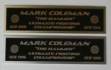 Mark Coleman UFC nameplate for signed mma gloves photo case
