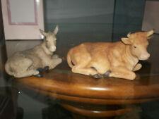 Seraphim Classics Nativity 2 Pc.Animals Cow Donkey 1998 # 81490 Heaven On Earth