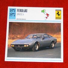 1971-72 Ferrari 365 GTC/4  - Edito-Service, SA collector card