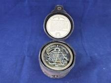 STANLEY London riproduzione bussola e Sundial in una custodia in pelle.