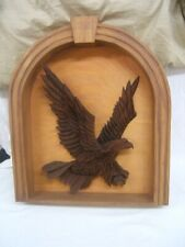 Stanley Seltz Woodcarving Eagle in Shadow Box PA Guild of Craftsmen Member