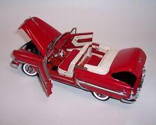 FRANKLIN MINT 1/24 1954 CHEVROLET BEL AIR CONVERTIBLE RED & WHITE MINT