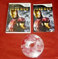 Iron Man (Nintendo Wii, 2008) complete w/ manual *TESTED*