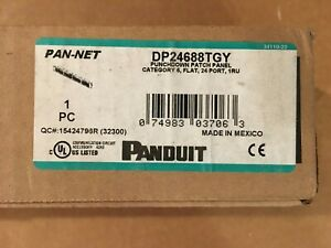 NEW Panduit DP24688TGY Punchdown Patch Panel Cat6, 24P, 1 RU