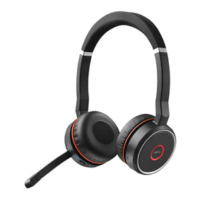 Jabra Evolve 75 UC Stereo On-Ear Wireless Headset with case - Black