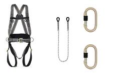 SET Kratos 4Punkt Sicherheitsgurt Klettergurt inkl Seil 2m Baumpflege Fallschutz