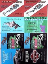 Grateful Dead Uncut Sheet Of Backstage Passes 1993 Very Rare 24 Years Old