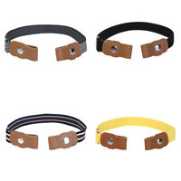 Kids Boys Elastic Waist Belts Invisible No Buckle Bulge Hassle Waistband Belt