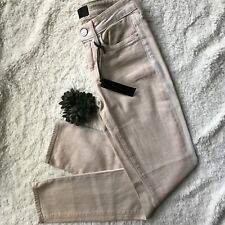 Vince Sz 24 US 0 Ghost Stripe Dylan Ankle Skinny Jeans Peach Nude Stretch Pants