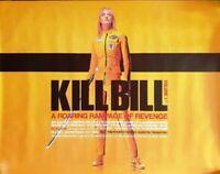 KILL BILL: Vol 1. 2003 Rare Quad Movie Poster. TARANTINO. THURMAN.  Near mint.