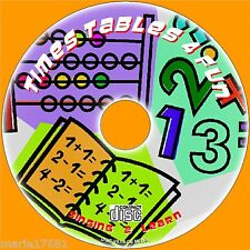 TEACH KIDS TIMES TABLES FUN SING & LEARN SYSTEM 2X-12X MULTIPLICATION TABLES NEW
