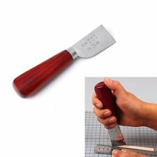 DIY Leather Crafts Skiving Sharp Handle Knife Leathercraft Hand Work Tools #GCT