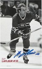 Guy Lafleur Signed Black and White Photo! HOF! Candiens!