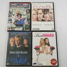 Dvd Lot Of 4 Romantic Comedy Elizabethtown Closer Meet Joe Black Bride Wars