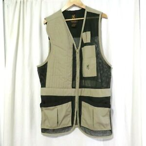 Browning Men's Sporting Mesh Vest New Without Tags XL Tall Green Beige
