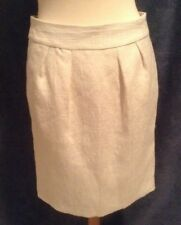 Banana Republic Off White Textured Lined Skirt with Sheen Size 6
