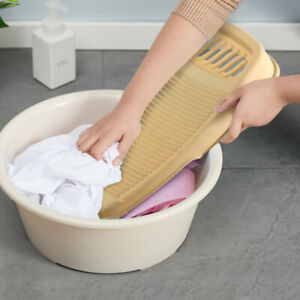 Portable Clothes Cleaning Tools Antislip Laundry Washboard Plastic Washing Board