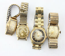 LOT OF 4 VINTAGE MENS BULOVA WATCHES RUNNING ART DECO TO AVANT GARDE NO RES 3482