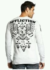 Men's AFFLICTION Abrasive Spirit 2XL XXL A12065 New White Thermal $68