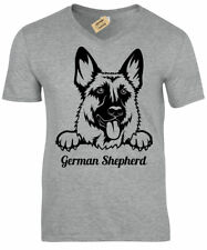 Pastor Alemán Camiseta Hombre Perro Amante Regalo Top con Cuello en V Pastorcita