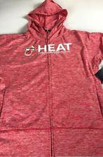 Miami Heat Jacket Womens 2XL Fitness NBA Basketball NEW Dri-Fit Hooded Gym Run