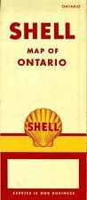 1957 Shell Road Map: Ontario NOS
