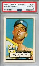 1983 TOPPS '52 REPRINT MICKEY MANTLE ROOKIE CARD #311 - PSA 8
