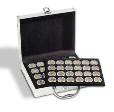 Maletín para monedas 2€ en capsulas, de aluminio para 144 monedas *LuzDeFaro