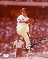 Steve Howe PSA DNA Coa Hand Signed 8x10 Dodgers Photo Autograph