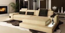 LForm Wohnlandschaft Couch Big XXL Sofa Leder Polster Ecke Garnitur Textil Stoff