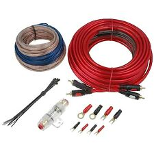 KIT 4 KIT CAVI ALIMENTAZIONE 8MM 8 AWG x AMPLIFICATORE 2CH E SUBWOOFER