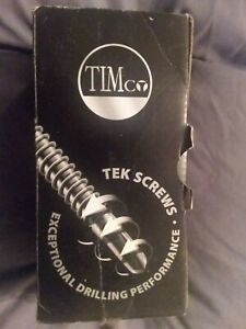 TIM CO WING TIP SELF DRILLING SCREWS BOX OF 200 5.5 X 65 NEW BOXED