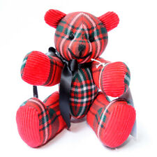 More details for scott red modern clan tartan collectable bear handmade very limited