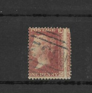 QV 1854-7 Penny Red major misperf Wmk Large Crown P.14