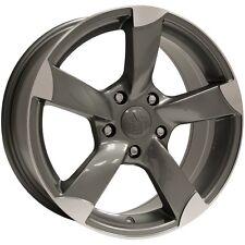 "(4) Vogue VT378 Graphite/Machined 18"" (5x115) Wheels - Clearance Sale!"