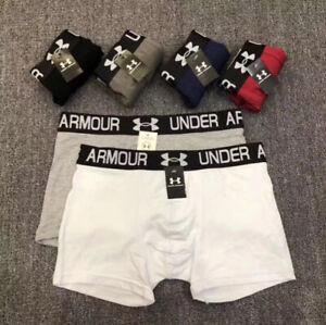 3PCS Mens Under Armour Plain Boxer Shorts Underwear Classic Cotton Rich Boxers